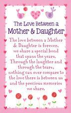 Mother & Daughter Love Heartwarmers Keepsake Credit Card & Envelope Gift