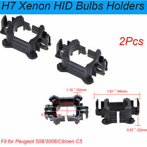 ABS HID Bulb Adapters Holders Fit Peugeot 3008/Citroen C5 H7 HID Bulbs