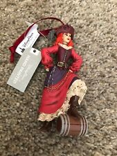 DIsney Parks Pirates Of The Caribbean Red head Women Pirate Ornament New Release