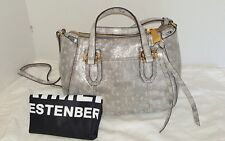 AIMEE KESTENBERG Jaden Leather Mini Xbody Grey Metallic Pearl Lizard NWT $198