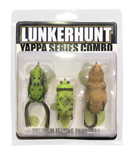 Lunkerhunt 3-Piece Yappa Combo Rat, Frog, & Bug Hollow Body Bass Topwater Lures