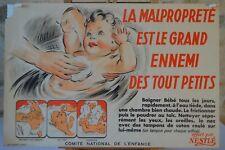 Affiche Nestlé - La malpropreté - Comité national de l'enfance - 1946