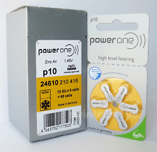 PowerOne Hearing Aid Batteries Size 10 P10, PR70  (60 count) High Level Hearing