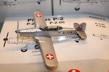 Pilatus P-2-05 A-124 Silber/Aluminium, Jg. 1963 ,1:72, ACE, Excl. Switzerland