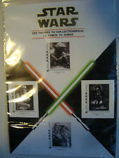 Collezionista di 4 Francobolli Star Wars 2015 In Blister new Stamps Post office