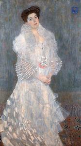 Gustav Klimt, Portrait Hermine Gallia 1904, Fade Resistant HD Art Print / Canvas