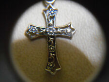 Necklace with Cross 925 Sterling Silver and Pearl