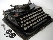 Vintage 1926 Remington Portable antique Typewriter, USA, German keys, repairs