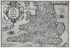 Antica mappa, angliae regni florentissimi NOVA descriptio, 1592