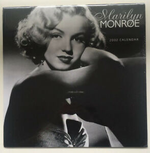 New & Sealed Marilyn Monroe Vintage 2002 Hollywood Movie Faces Calendar Rare