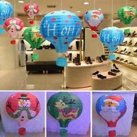 "12""Christmas Decor Hot Air Balloon Paper Lantern Lampshade Ceiling Light Wedding"