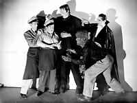 VINTAGE PHOTOGRAPHY B&W DRACULA WOLFMAN FRANKENSTEIN MONSTERS POSTER LV4848