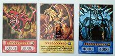 Yugioh Orica Anime style 2 dieux cartes Obélisque, Ra et Slifer