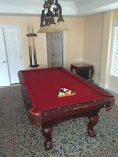 Championship 21oz  Pool Cloth Felt 9ft Pre Cut  Burgundy Teflon