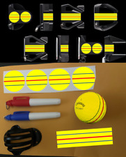 ODYSSEY TRIPLE TRACK DECALS - LINE MARKER STENCIL W/ PENS - POKER CHIP *YELLOW*