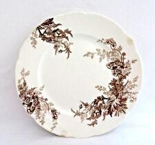 """Johnson Bros. England """"Paris"""" Brown Transferware Plate ~ Poppies"""