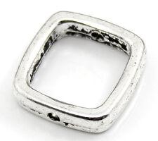 30 HOT Moda Distanziatori Perle Perline Quadrato Argento antico 14x14mm
