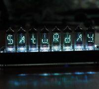 NIXT CLOCK - 100% Assembled IV-17 VFD Tube Clock Scrolling Text nixie era