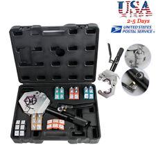 Hydraulic Hose Crimper Crimping Tool Kit Conditioner Auto Repair Tool w/case