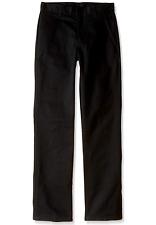 Nautica Boys' Husky Uniform Flat Front Pant Black Size Large 16 Husky