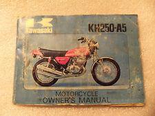 kawasaki kh250  genuine original owner  manual