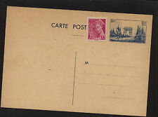 France  postal card  uprated with stamp  unused          MM0525