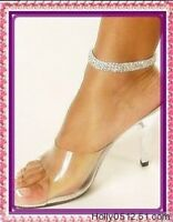 1pc Sexy Fashion Crystal Rhinestone 3row Anklet Ankle Bracelet Chain Jewelry