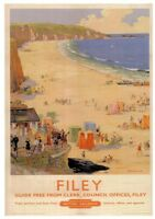 093 Vintage Railway Art Poster Filey  *FREE POSTERS