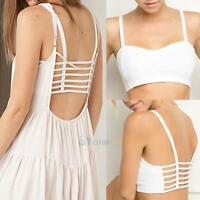 Sexy Women Padded Bra Tank Tops Bustier Bra Vest Crop Top Bralette Blouse Summer