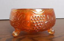 Antique Fenton? Marigold Carnival Glass Vintage Grape Delight Footed Bowl