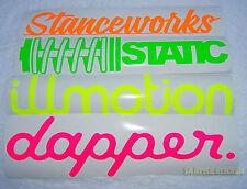 NEON Aufkleber dapper ILLMOTION 30cm static STANCEWORKS Sticker autotuning neon