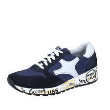 Herren schuhe BRUNO VERRI 45 EU sneakers blau wildleder textil BS604-45