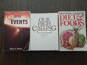 Ellen G White Seventh-day Adventist Lot Of 3 Books