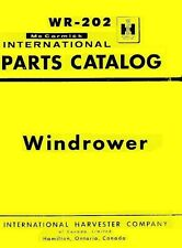 International McCormick 275 Windrower Windrow Harvesters Parts Catalog Manual IH