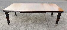 LARGE 2 LEAF ANTIQUE SOLID OAK WIND OUT EXTENDING TABLE     DELIVERY AVAILABLE