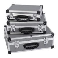 3in1 Aluminium-Koffer Alukoffer Werkzeugkoffer Alu Koffer Grau/Silber NEU