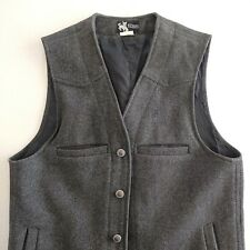 Wyoming Traders Mens Vest Wool Dark Gray Button Front Western Cowboy Size S
