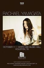 RACHAEL YAMAGATA 2016 HOUSTON CONCERT TOUR POSTER-Adult Alternative, Indie Music