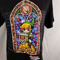 The Legend Of Zelda Wind Waker HD Stained Glass Unisex T-Shirt Size Medium