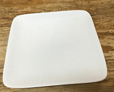 """Crate & Barrel White Square 1 Appetizer Bread Plate 5"""" China Rounded Corners"""