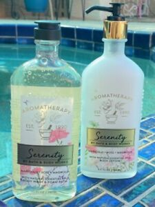 Bath & Body Works Aromatherapy Serenity Marigold, Rose & Magnolia Lotion & Wash