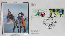 ENVELOPPE PREMIER JOUR - 9 x 16,5 cm - ANNEE 2004 - LUGE ROLLER