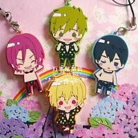 Free! Anime Swim Club Iwatobi Rubber Strap Keychain Charm 1 pcs