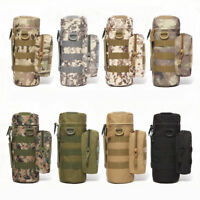 HO_ EP_ Outdoor Tactical Military Molle System Camo Water Bottle Bag Kettle Pouc