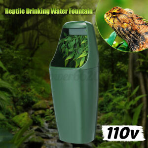 Reptile Drinking Water Fountain Humidifiers Chameleon Lizard Reptile