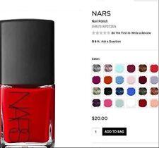 Nars Nail Polish 0.5oz Full Size Choose your shade New in Box!