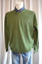 BASEFIELD Herren fein Strick Pullover Gr.XL 54 Grün mit Kaschmir  TOP *A425
