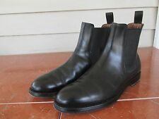 W. Gibbs Sz 7 M Black Leather Chelsea Boots Men's Boots EUC Made Italy