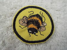 """BUMBLE BEE 2-1/4"""" Embroidery Iron-on Custom Patch (E4)"""