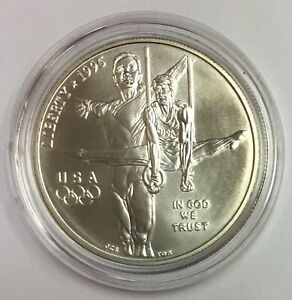 1995-D Atlanta Olympic Games - Gymnast Commemorative Silver Dollar BU